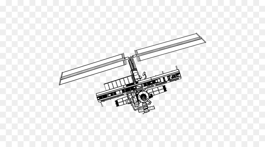 La Estación Espacial Internacional De Dibujo De Vuelo Espacial Por ...