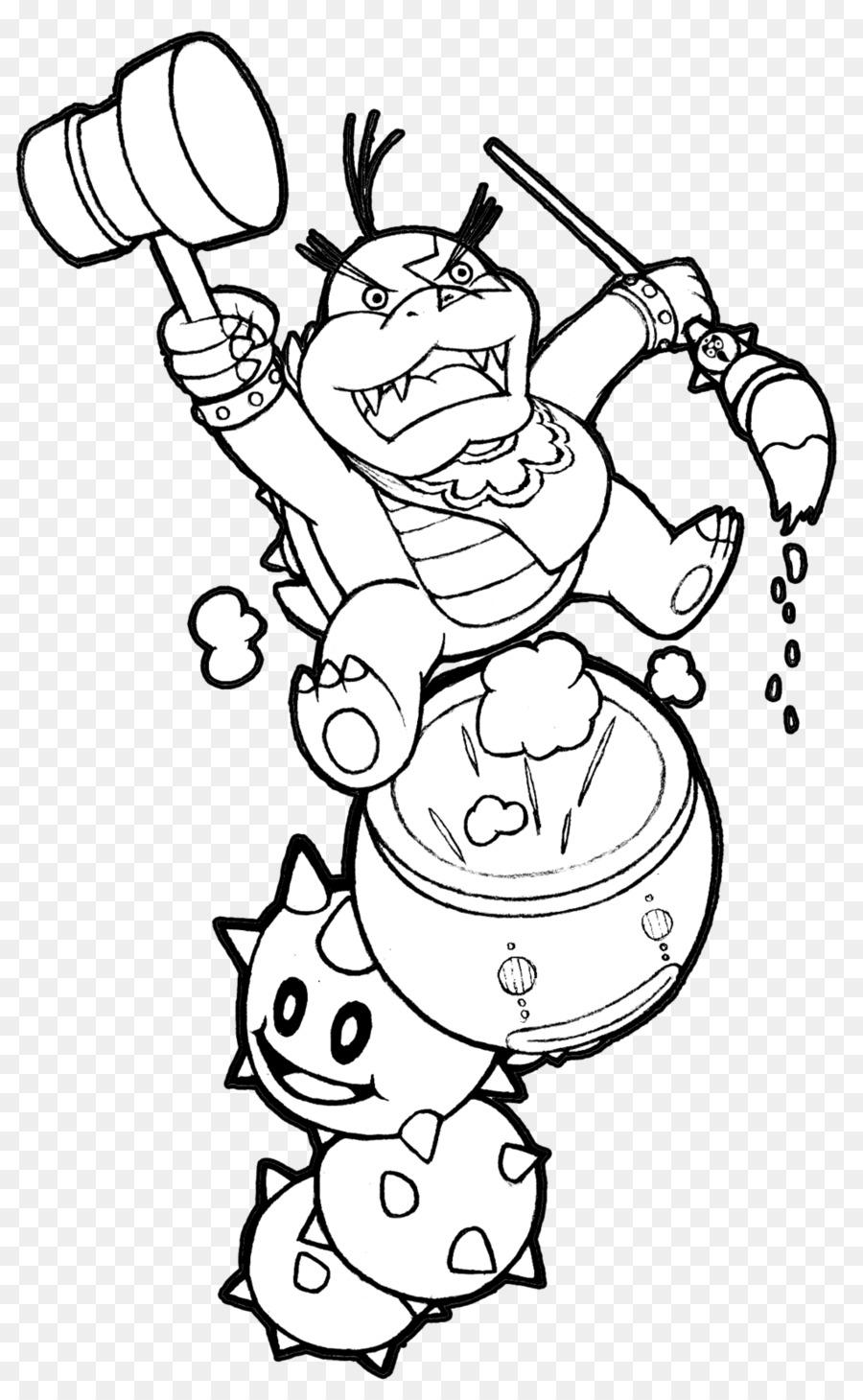 Bowser New Super Mario Bros. Wii Coloring book Koopalings - mario ...