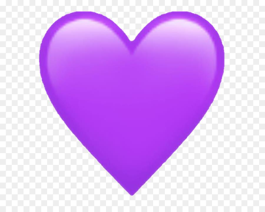 Emoji Purple Heart Symbol Sticker Emoji Png Download 720720