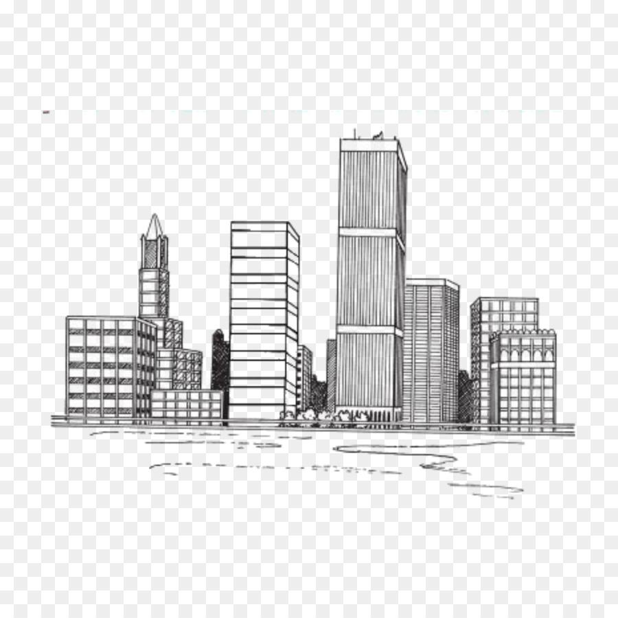 Gambar Gambar Kota York Ilustrasi Sketsa Cityscape Pemandangan