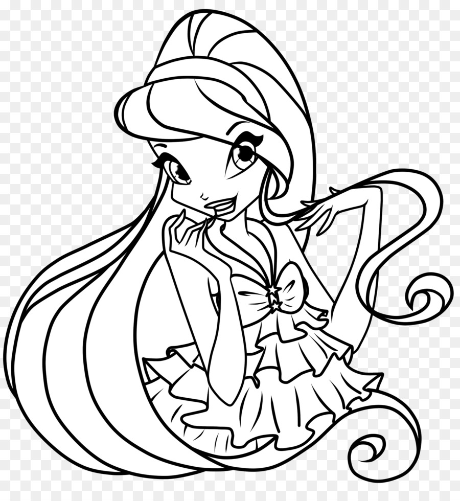 Bloom Stella Musa Flora Colouring Pages Believix Png Download
