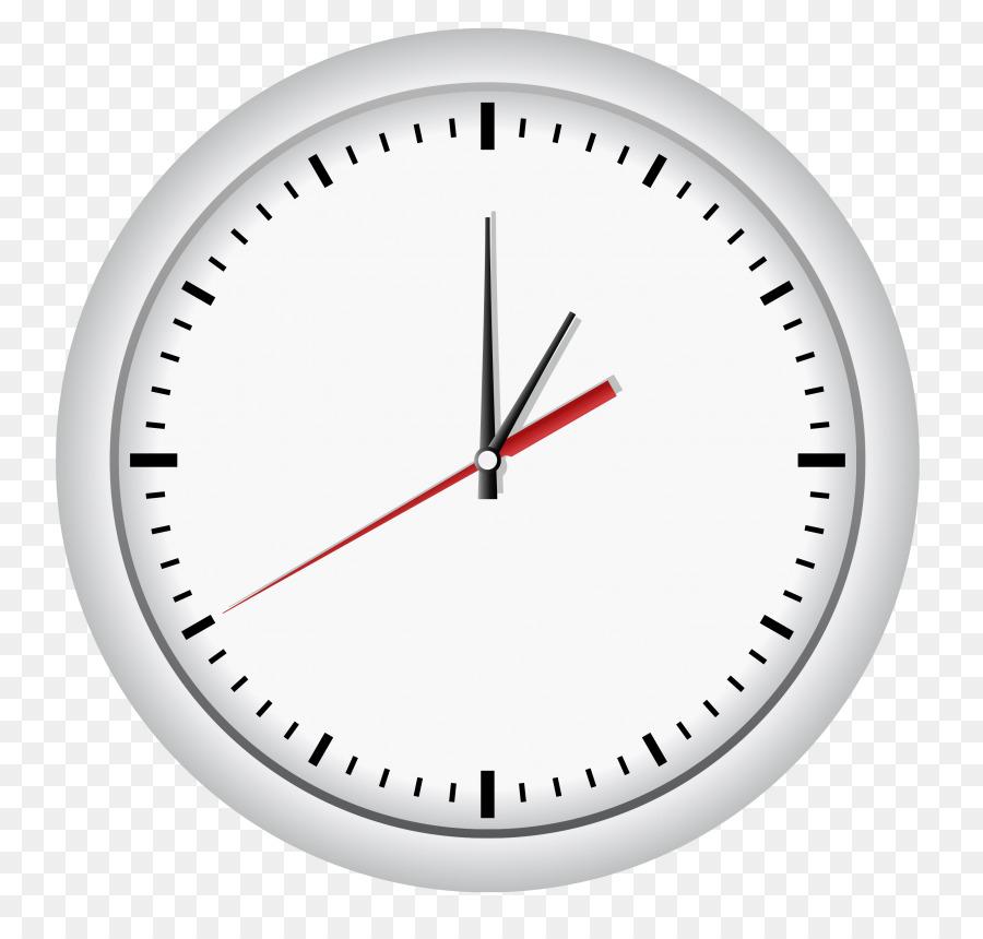 Orange Rings 24 Round Modern Metal Wall Clock Vector Graphics