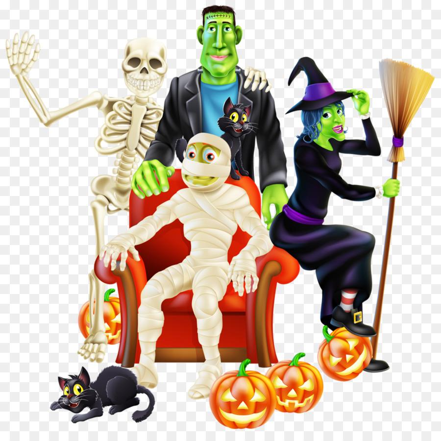 Halloween Cartoon Background png download - 1024*1002 - Free