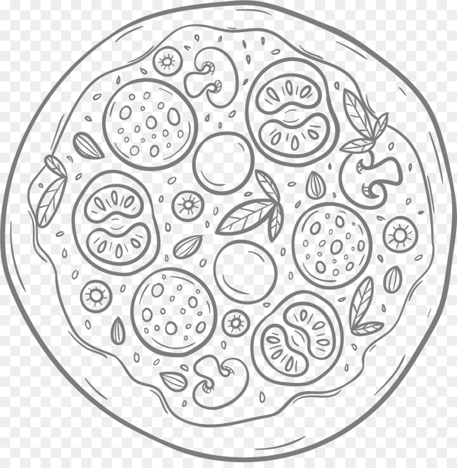 Pizza Coloring book Empanadilla Colouring Pages Image - pizza png ...