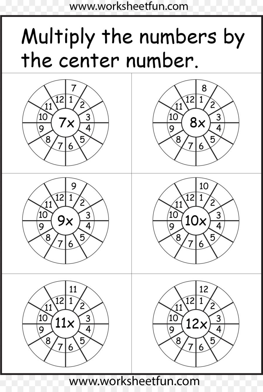Tabla de multiplicación Matemáticas Hoja de cálculo de las tablas de ...