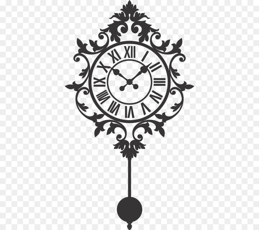 Clock Clip Art Vector Graphics Wall Decal Silhouette Clock Png