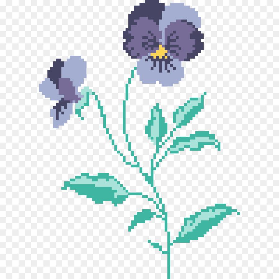 Diseño Floral Bordado con punto de Cruz punto de Cruz Patrones ...