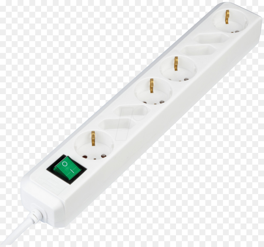 Eight-way socket outlet with switch 8-fach Steckdosenleiste mit ...