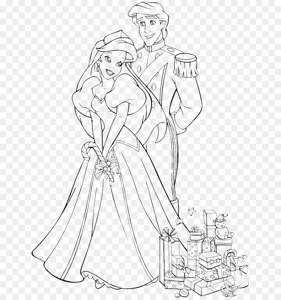Ariel Wedding Coloring Books The Prince Wedding Coloring Book ...