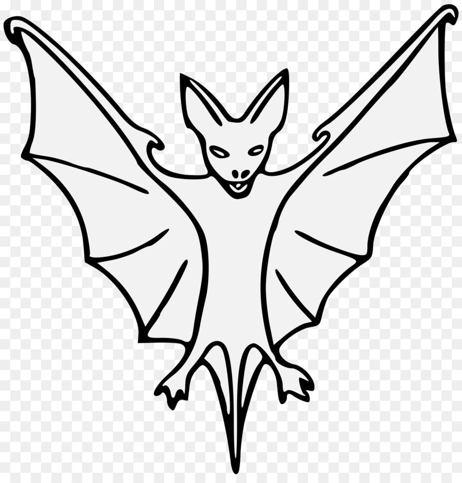 Coloring book Heraldry Line art Clip art Drawing - Sleeping Bat ...