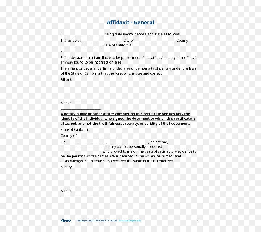affidavit form free download