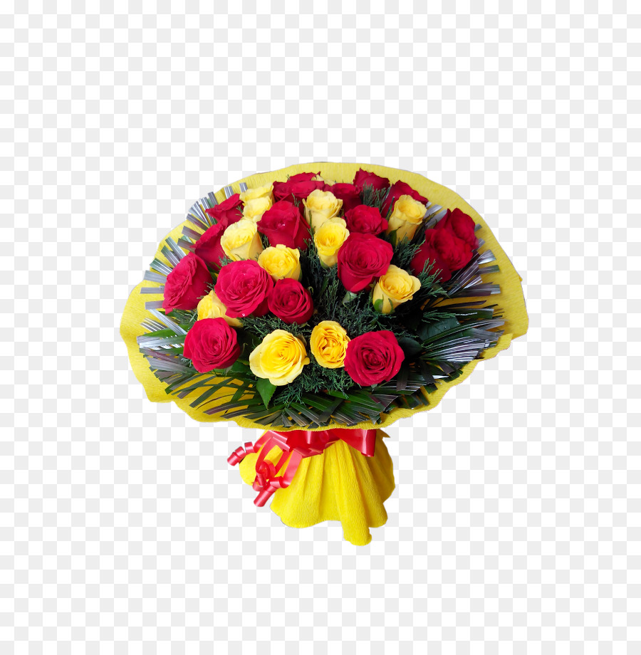 Garden Roses Flower Bouquet Yellow Rose Png Download 688918