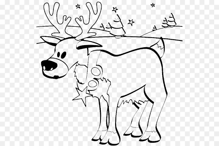 Rudolph, el Reno de Santa Claus para Colorear libro - Renos png ...