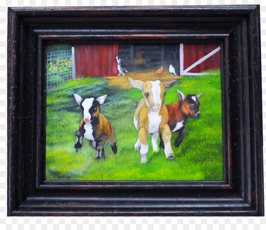 Dog Painting Window Picture Frames Modern Art Dog Png Download