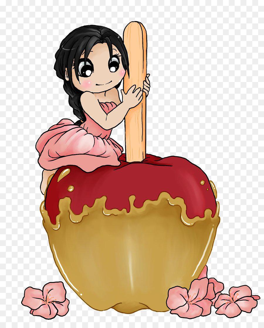 Bonbons A La Pomme Au Caramel De Pomme De Dessin Clip Art