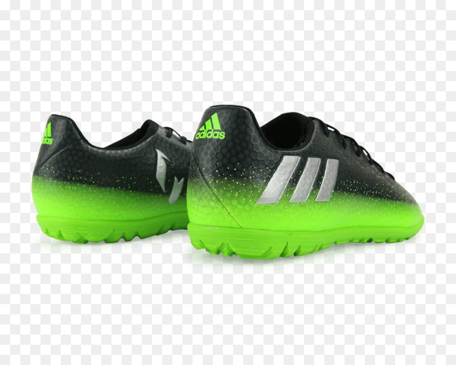Adidas Messi 163 IN Dunklen Grau Silber Metallic Solar Green