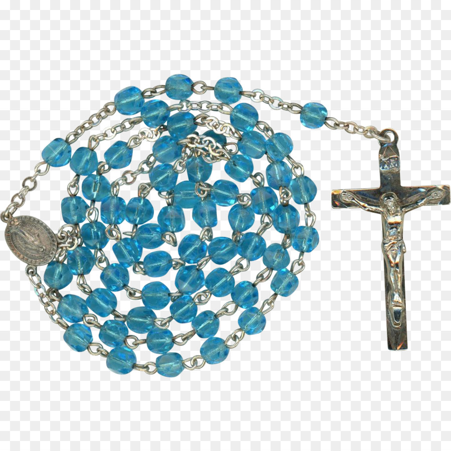 Turquoise Rosary Bead Bracelet Jewellery Praying Hands With Rosary