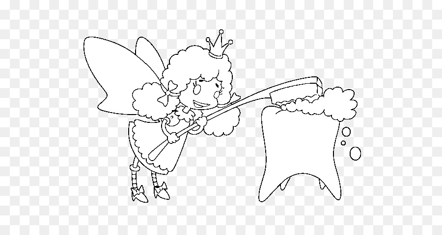 Tooth Fairy Coloring book-Colouring Pages - Zahnfee png ...