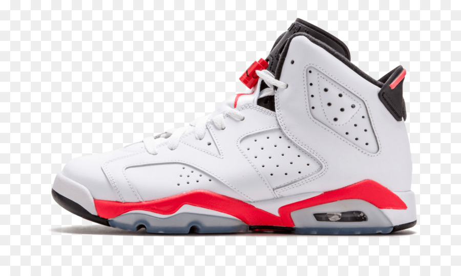 best service aaf1e 51cef Air Jordan, Nike Mens Air Jordan 6 Retro Infrared, Air Jordan 6 Retro Bg  Shoes, Footwear, White PNG