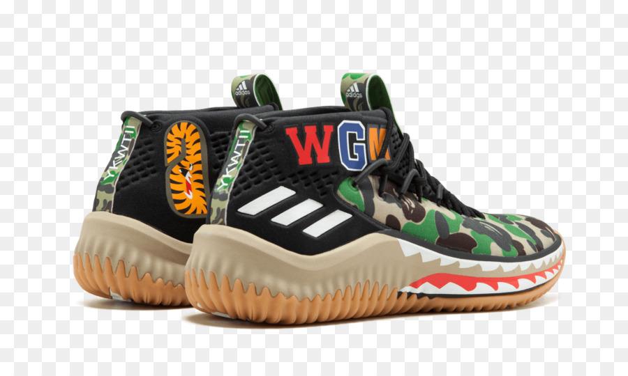best website 4c6dd c7ded Zapatillas de deporte de Adidas x Bape Dame 4 Panton Ftw White Core Black
