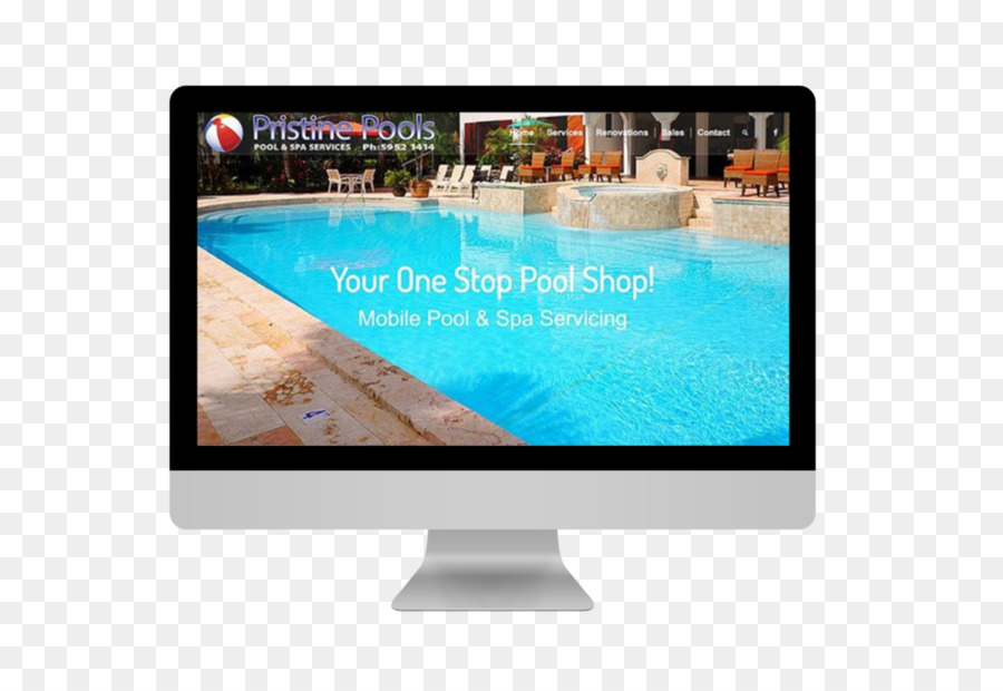 Swimming Pools Website Social Media Marketing Web Design   Dynamic Graphic  Material