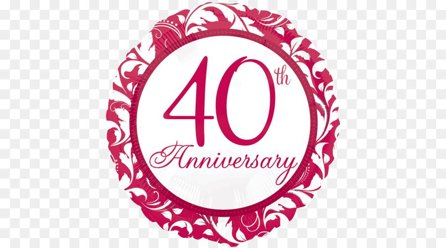 Ballon Hochzeit Jubilaum Geschenk Geburtstag 40 Jahriges Jubilaum