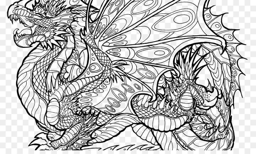 Malbuch Malvorlagen Chinesische Drachen Erwachsenen Drachen Png