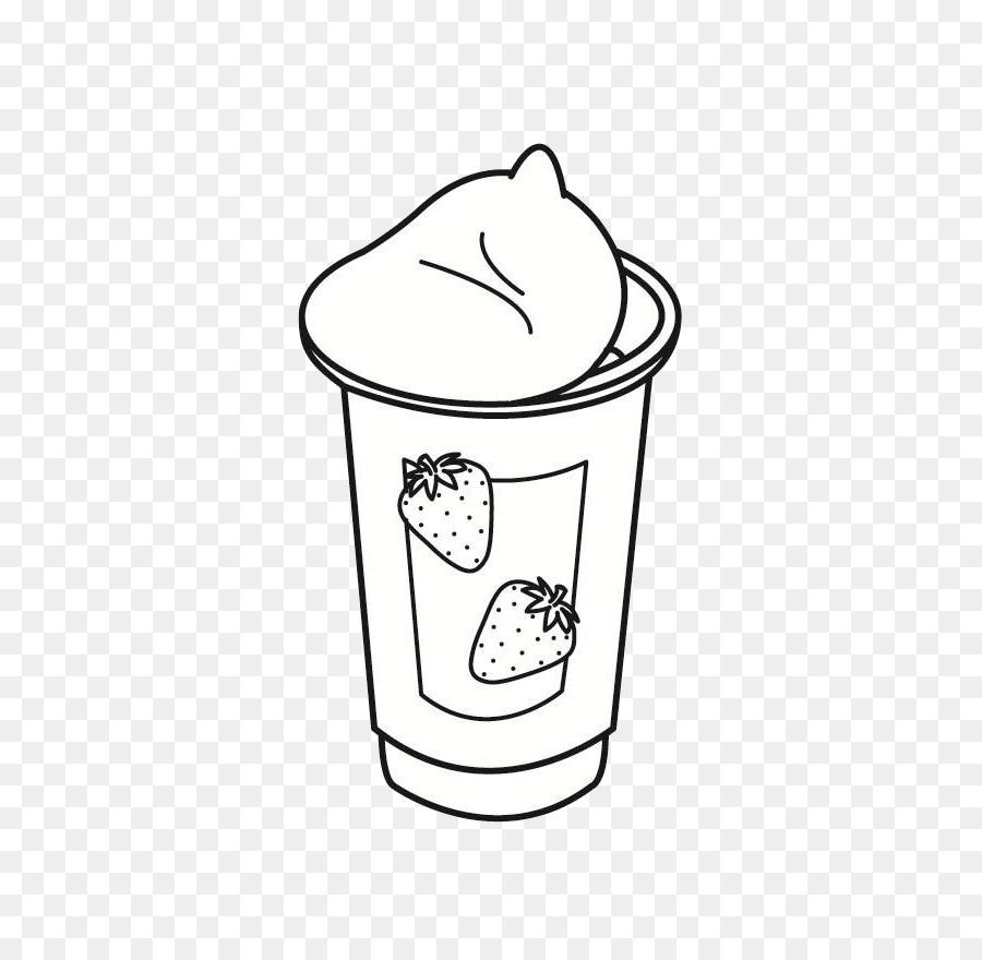 Yoğurt Boyama Sayfası Okul Boyama Kitabı çizim Okul Png Indir
