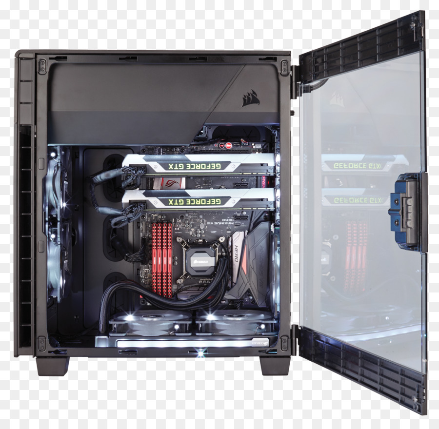 Computer Cases & Housings Power supply unit Corsair Carbide Clear 600C  Inverse ATX Full Tower Case Corsair Carbide 600Q Inverse ATX Full Tower - case  pc