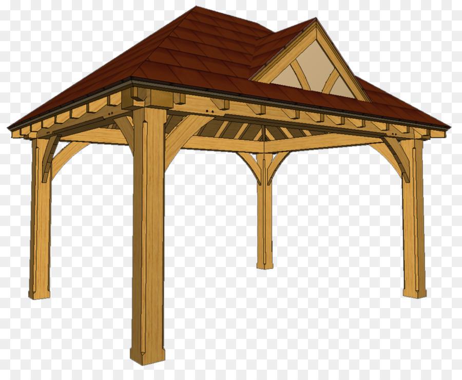 Gazebo Timber roof truss Timber framing - building png download ...
