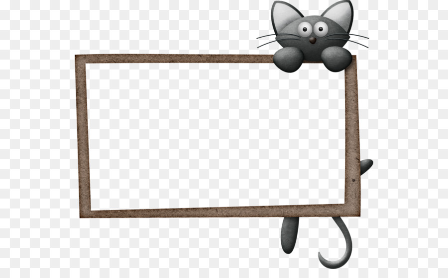 Cat Borders and Frames Clip art Image Illustration - Cat png ...