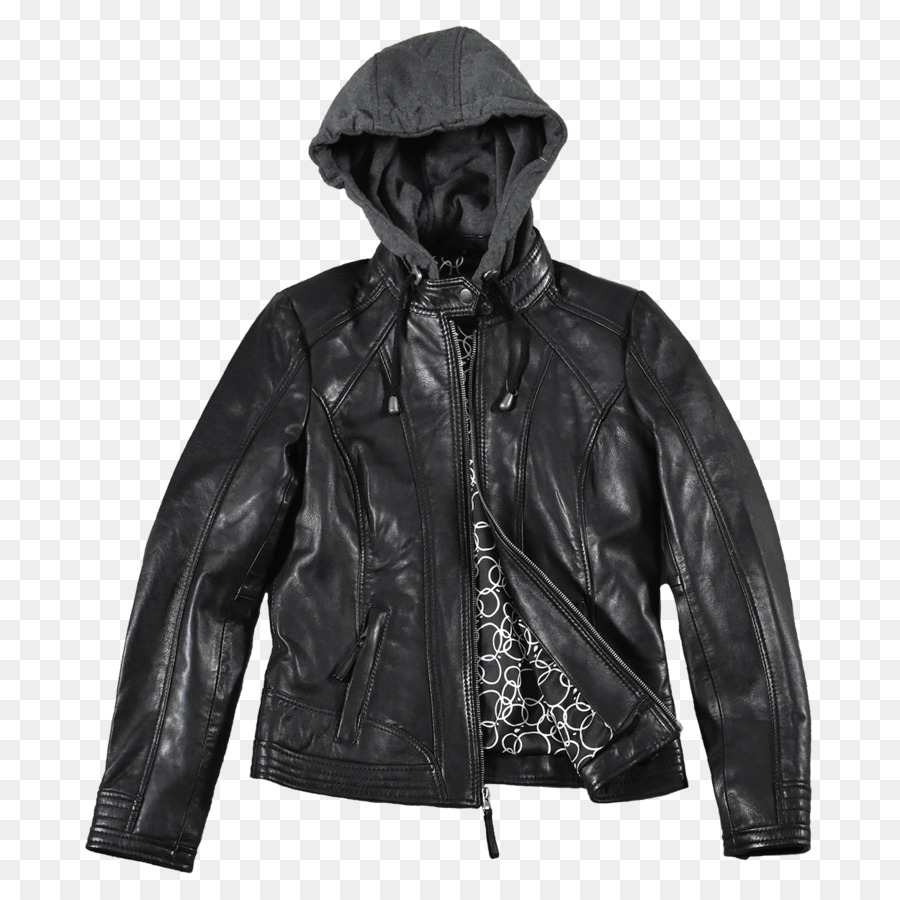 176dd54779 Leather jacket Hoodie Sweater - Leather Jacket with Hood png ...