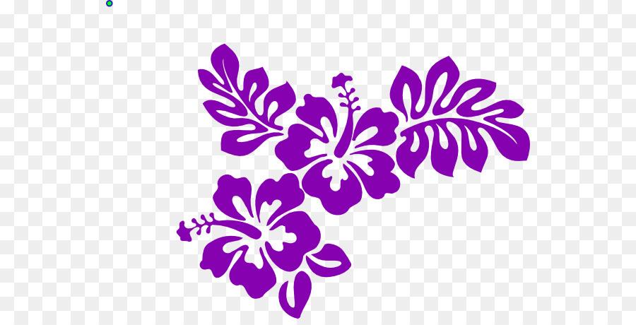 Clip Art Vector Graphics Image De Pochoir Fleur Mauve Fleur
