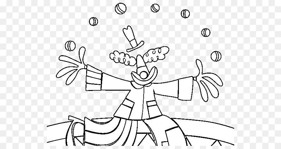 Disegno Di Clown Giocoleria E Circo Libro Da Colorare Clown