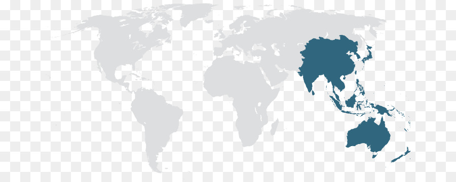 World map World Physical Map Globe - asia pacific map png download ...