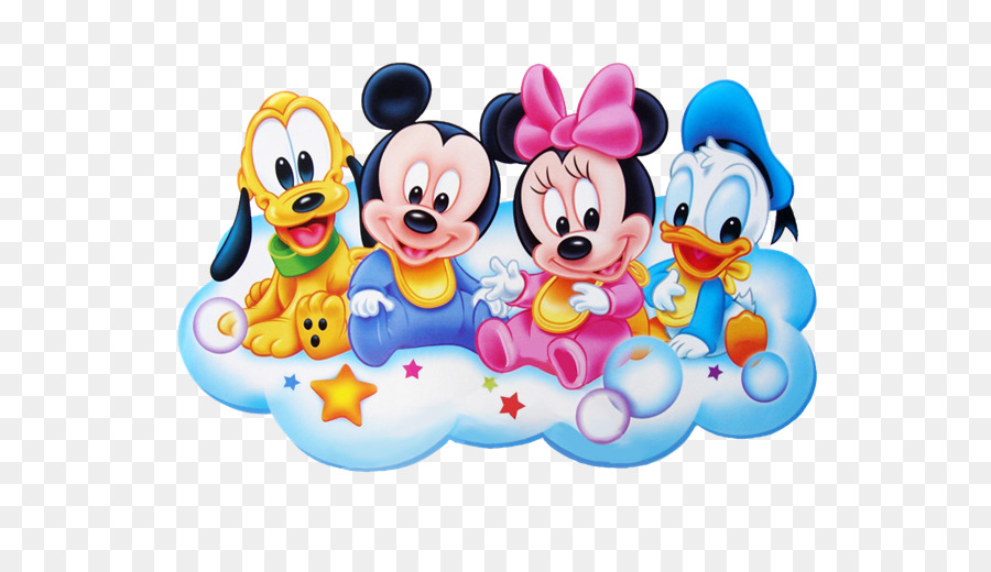 Minnie Mouse Mickey Donald Duck Infant Clip Art