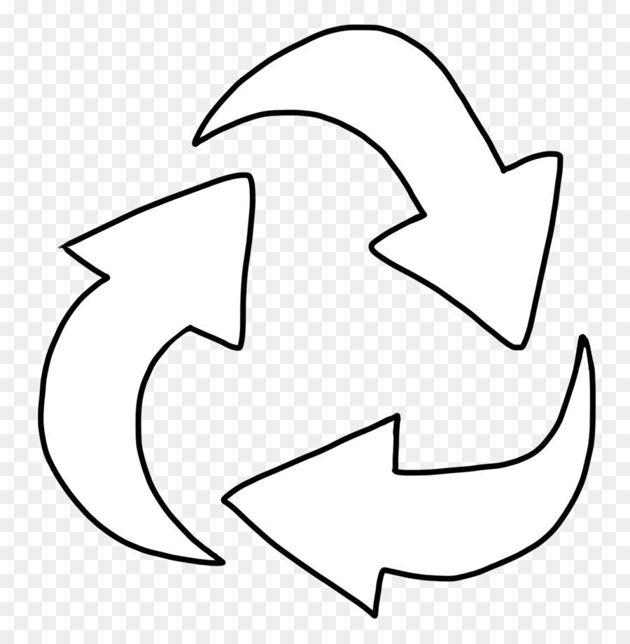 o símbolo de reciclagem reciclagem livro de colorir clip art
