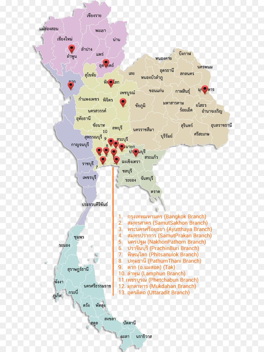 Bangkok Karte.Provinzen Von Thailand Ost Thailand Chiang Mai Bangkok Karte