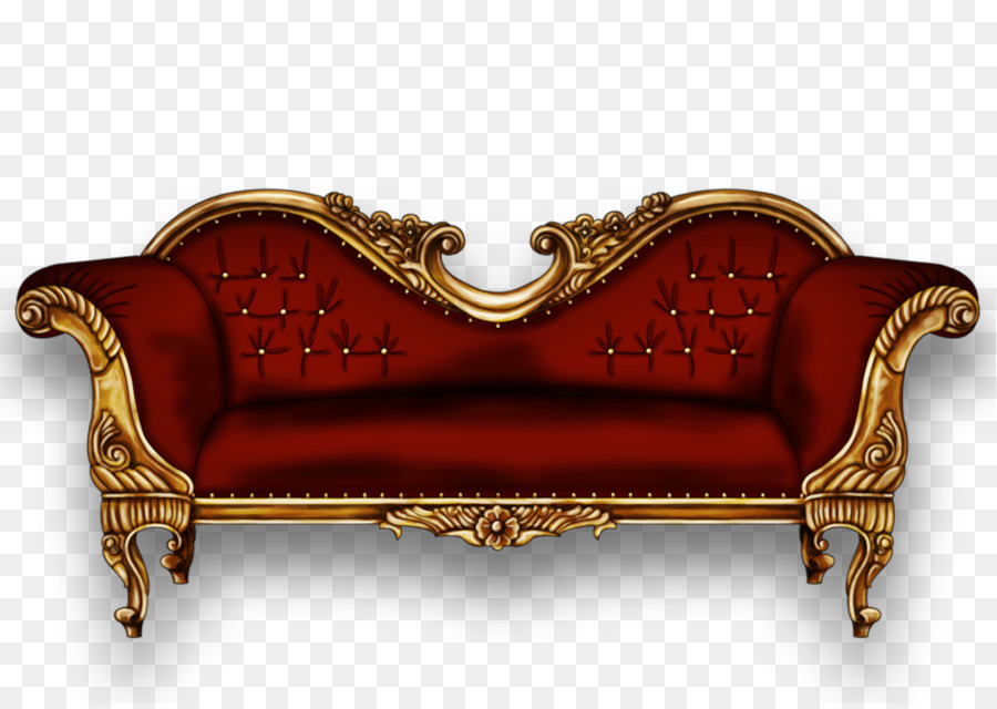 Couch Chair Sofa Ukir Chaise Longue Antique Baroque Bed Png