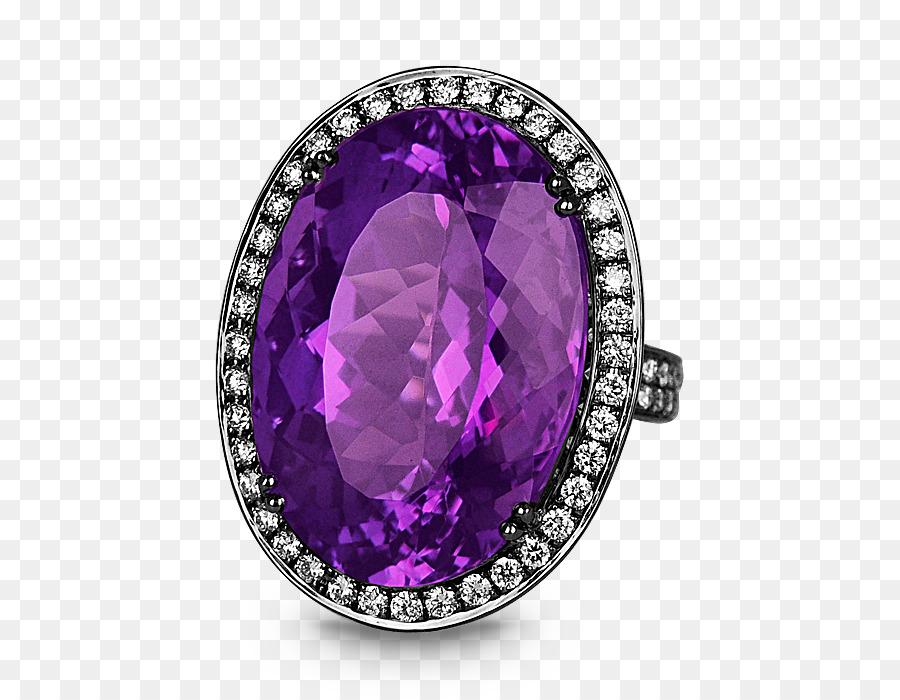 Bague de fiançailles en Améthyste et Diamant bague de Mariage - améthyste  bague en diamant a4df78e57d9e