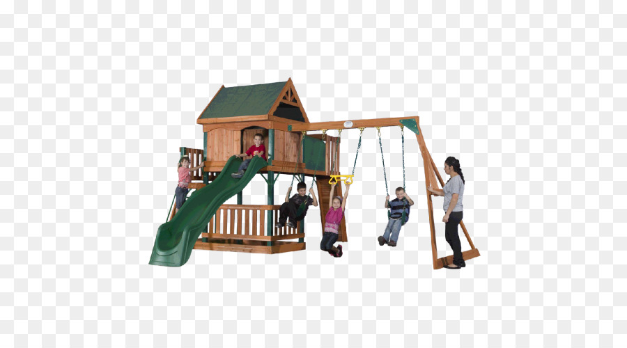 Backyard Discovery Tucson Cedar Swing Set Outdoor Playset Toy