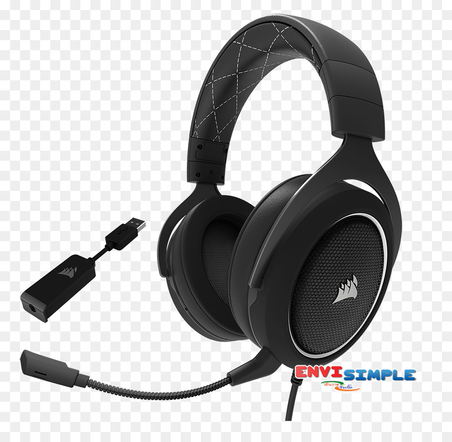Corsair Hs60 Surround Gaming Headset 71 Sound Headphones Void Rgb Usb Dolby White Wireless