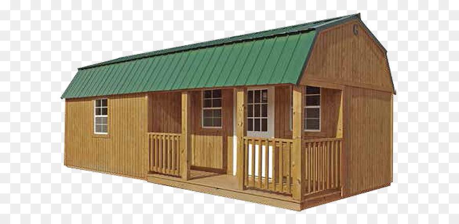 Schuppen Blockhaus mit Veranda Bauen Loft - Holz Rahmen die pole ...