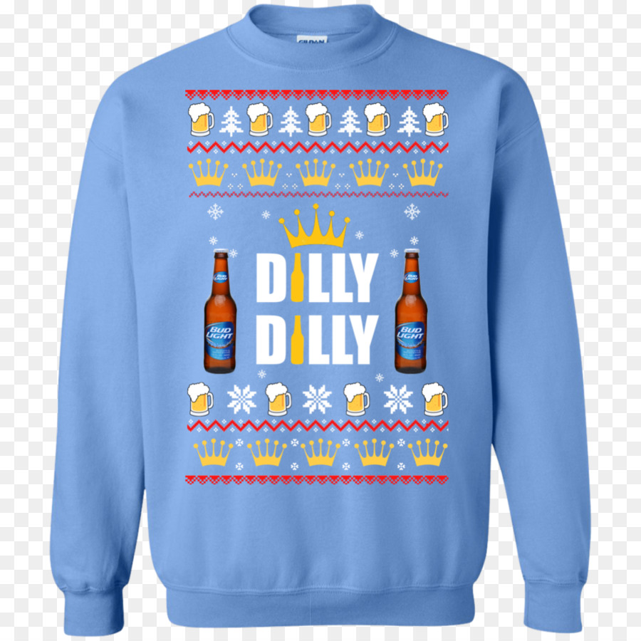 t shirt sweater hoodie crew neck bluza bud light dilly dilly