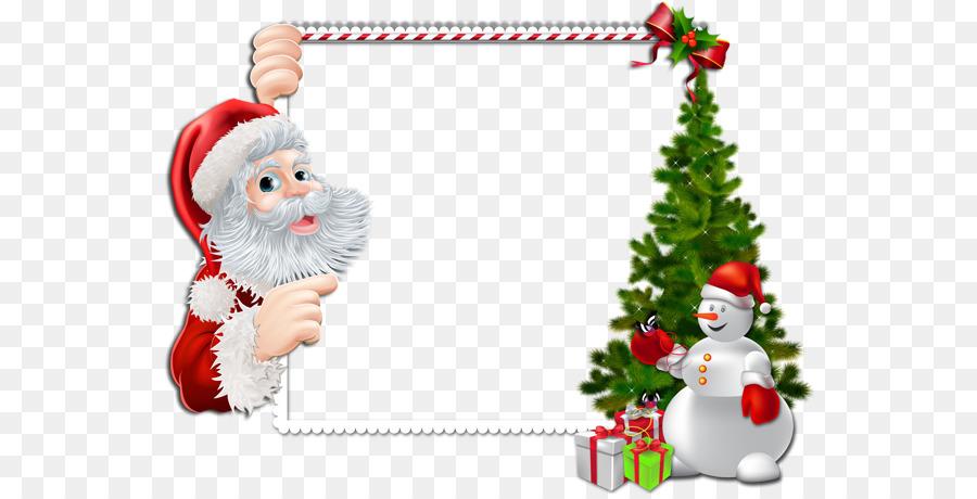 Santa Claus Borders and Frames Clip art Portable Network Graphics ...
