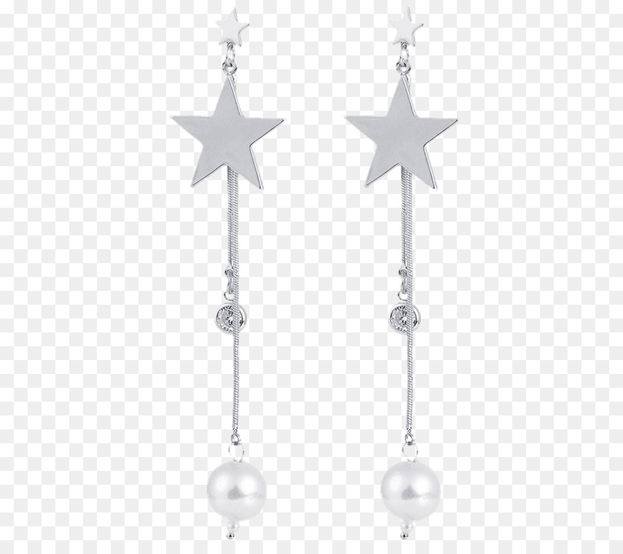 Earring Body Jewellery Silver Christmas ornament - curly afro ...