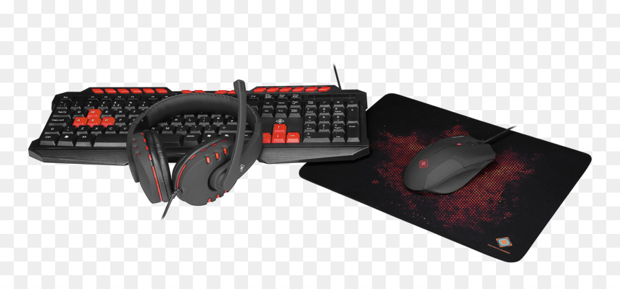 Computer keyboard Computer mouse DELTACO GAM-023UK 4-in-1 Gaming kit ...
