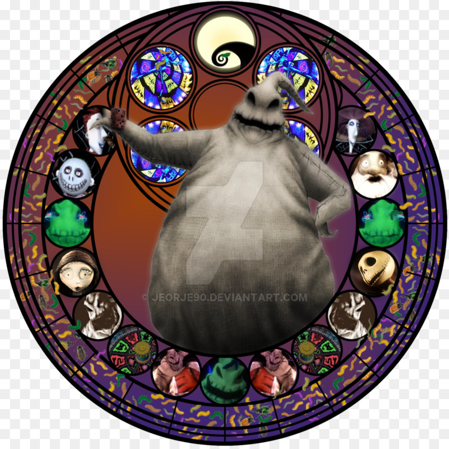 Oogie Boogie Stained glass Jack Skellington The Nightmare Before ...
