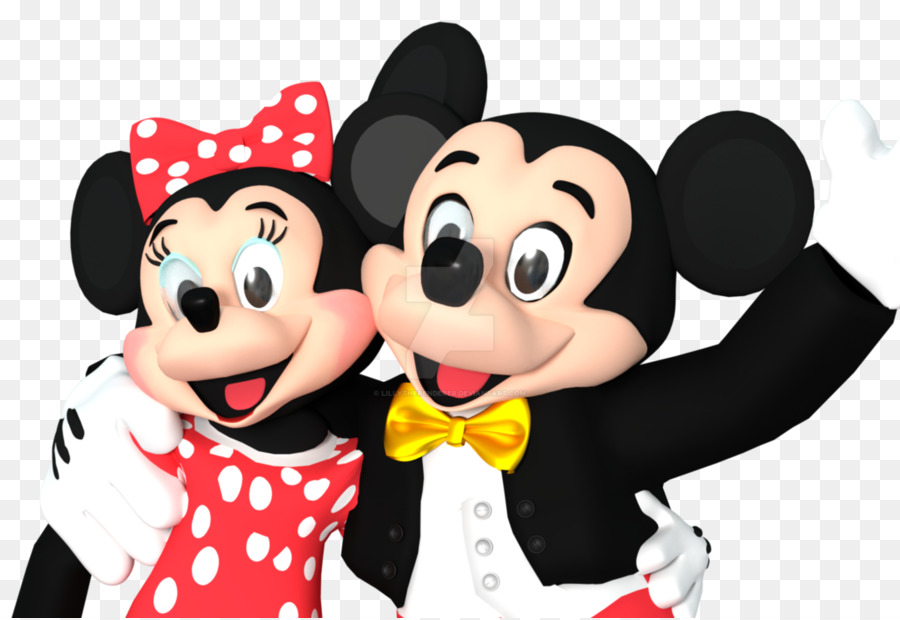Minnie mouse di mickey mouse mascotte cartoon di walt disney world
