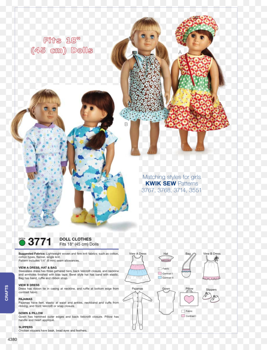 Doll Clothing Pattern Dress Sewing - toy sewing patterns png ...